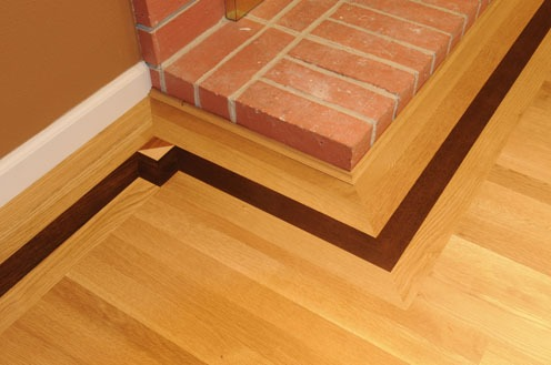 Hardwood flooring borders gurus floor for Hardwood floor borders ideas