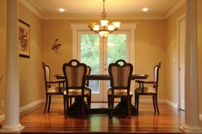 Hardwood flooring living and dinning room 07