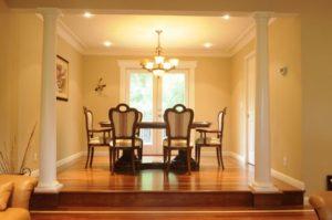 Hardwood flooring living and dinning room 08