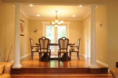 Hardwood flooring living and dinning room