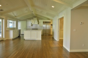 Large image of kitchen with a hardwood floor