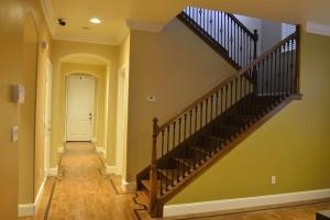 Hallway hardwood flooring and stairs
