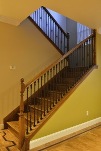 Wooden stairs hardwood floor