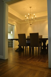 Dinning area with hardwood floor 3