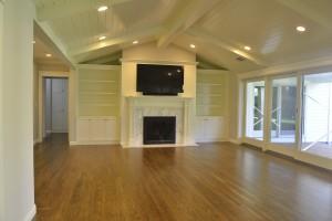 Large living area hardwood floor