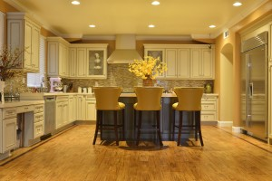 Large home kitchen flooring