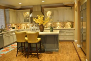 Hardwood floor in beautiful kitchen