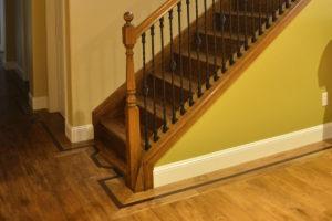 Hardwood floor in hallway